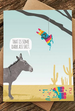 Donkey Pinata Birthday Greeting Card