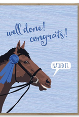 Well Done! Blue Ribbon Horse Greeting Card