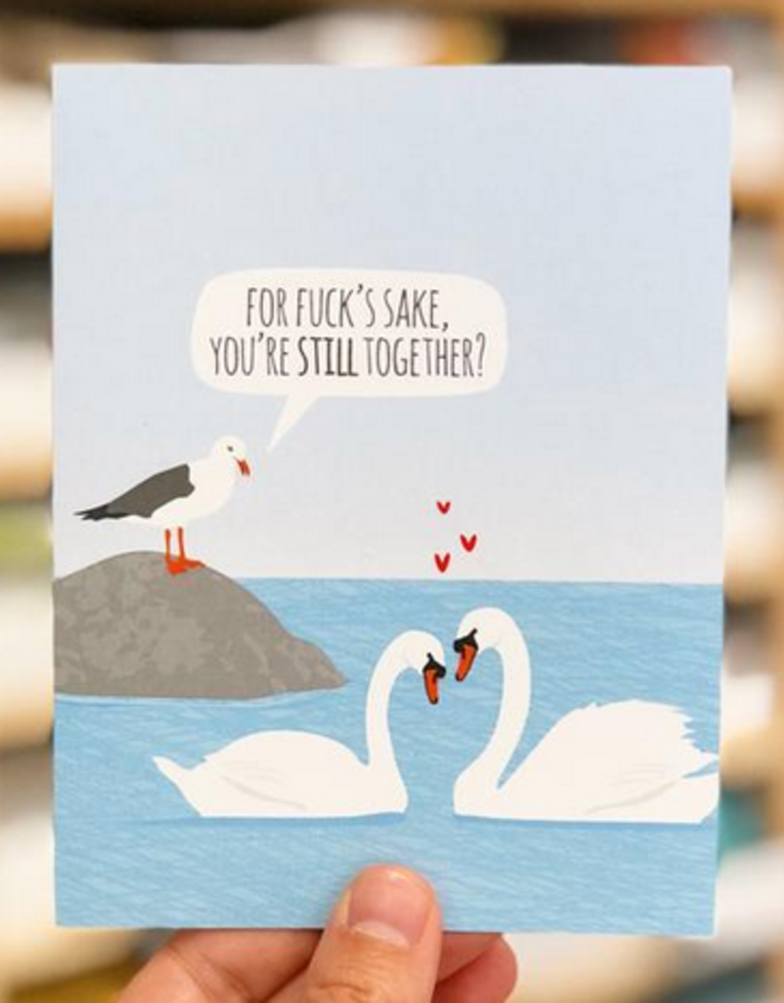 Anniversary Swans Greeting Card