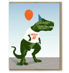 Modern Printed Matter Ancient AF T-Rex Birthday Greeting Card