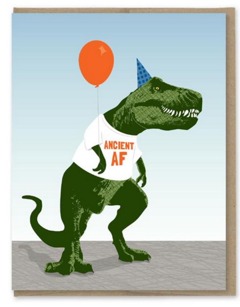 Modern Printed Matter Ancient AF T-Rex Birthday Greeting Card