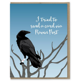 Modern Printed Matter Raven Post Birthday Greeting Card