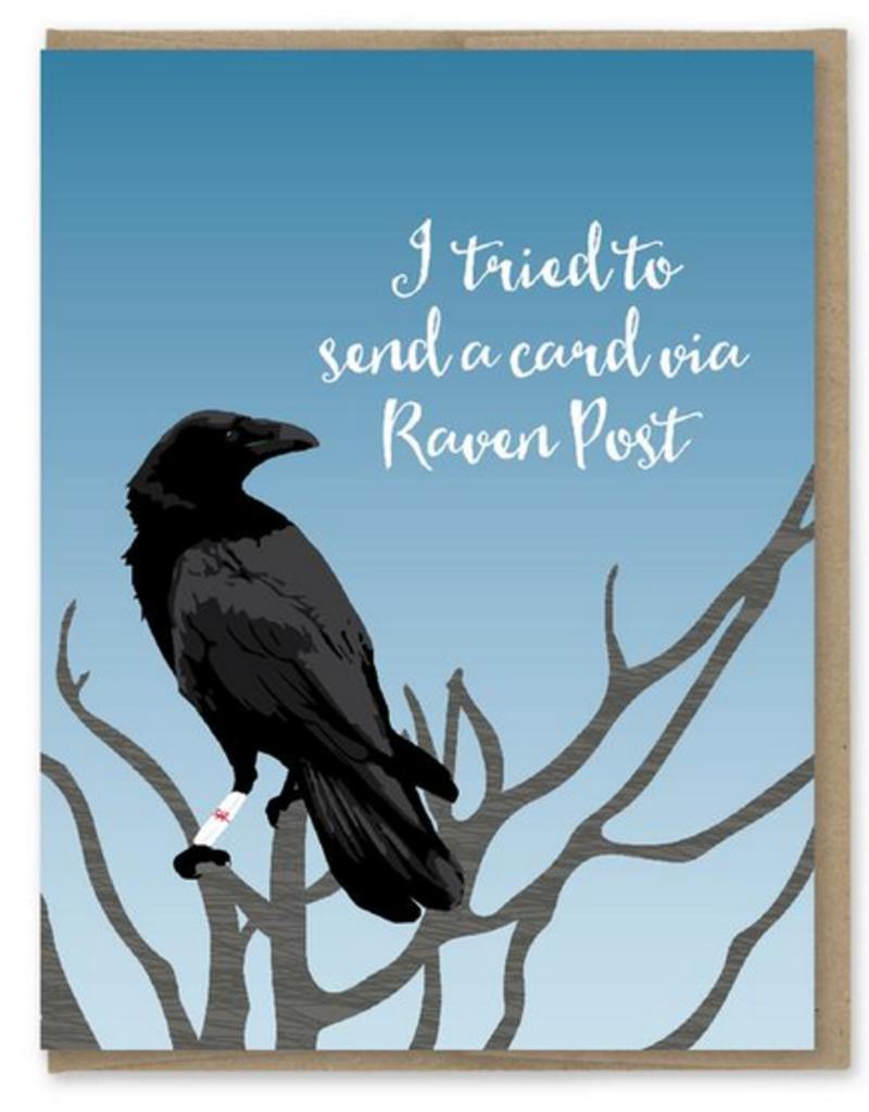 Modern Printed Matter Raven Post Birthday Greeting Card