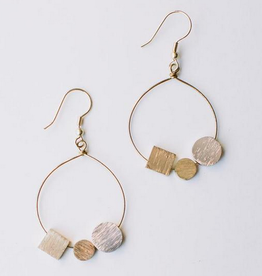 Mata Traders Melodic Stone Earrings - Gold