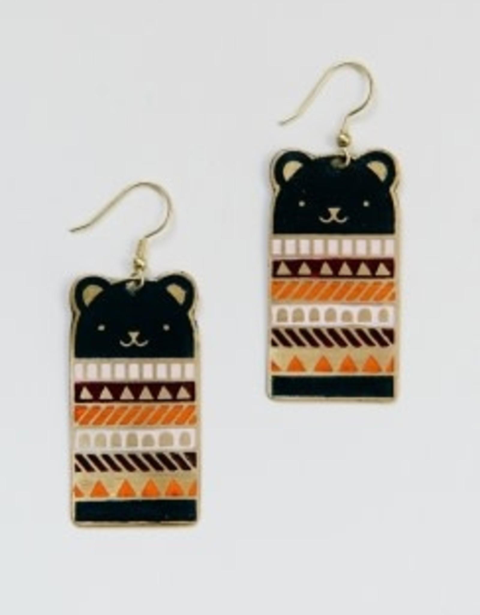 Bear Necessities Earrings - Blue