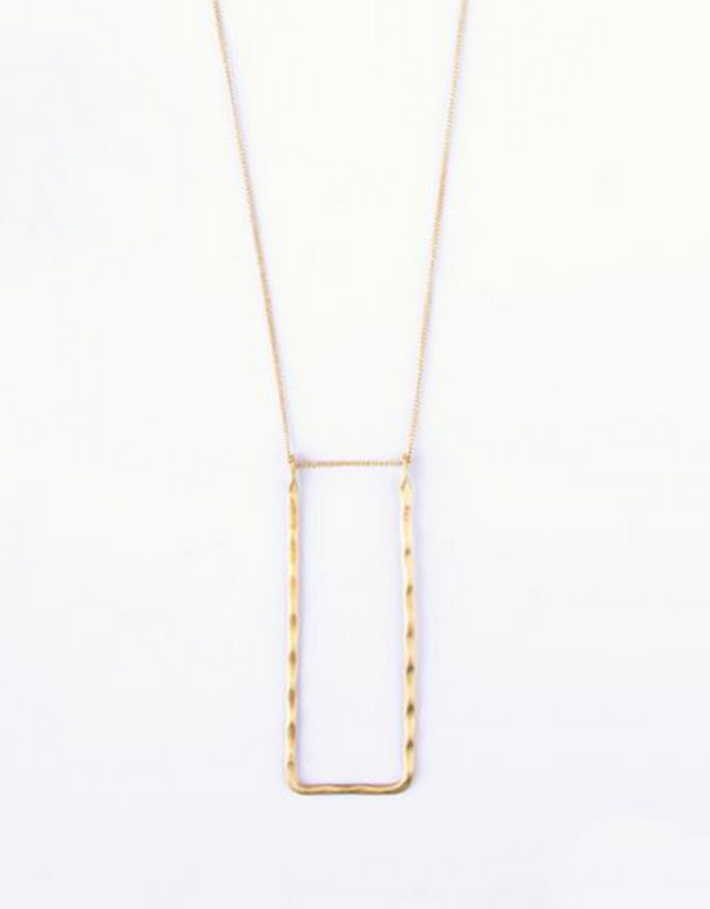 Mata Traders Delicate Frame Necklace - Gold