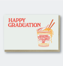 Pike Street Press Happy Graduation Ramen Greeting Card