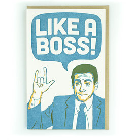 Pike Street Press Like a Boss (The Office) Greeting Card