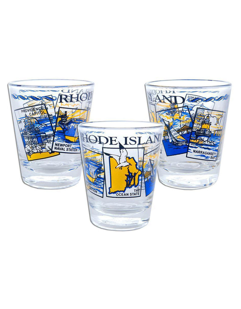 United Souvenir Rhode Island Scenes Shot glass