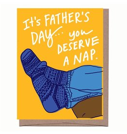 La Familia Green Father's Day Nap Greeting Card