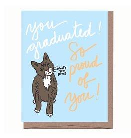 La Familia Green You Graduated! So Proud Greeting Card