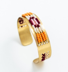 Mata Traders Beaded Daydreams Cuff - Orange