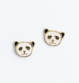 Mata Traders Panda Bear Stud Earrings