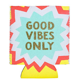 Hello World Good Vibes Koozie