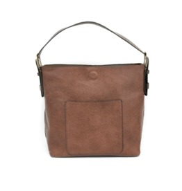 Joy Accessories Classic Hobo Handbag : Cognac/Brown