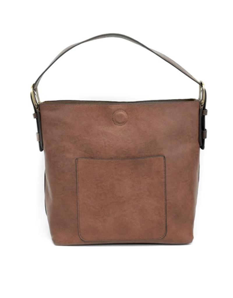 Joy Accessories Classic Hobo Handbag : Cognac/Brown