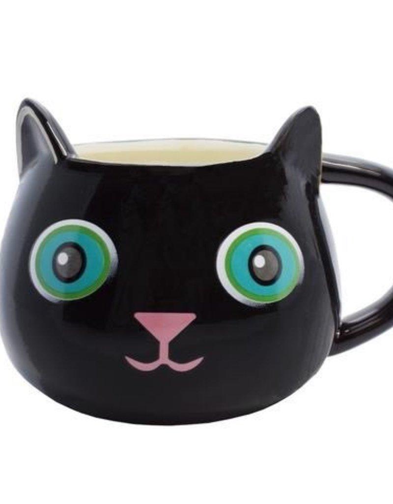 Streamline Fine Feline Mug - Black