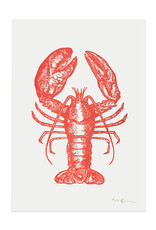 Spofford Press Red Lobster Letterpress Print