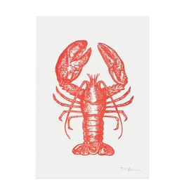 Spofford Press Red Lobster Letterpress Print