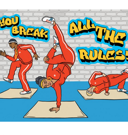 The Found Break Dancing Birthday Greeting Card