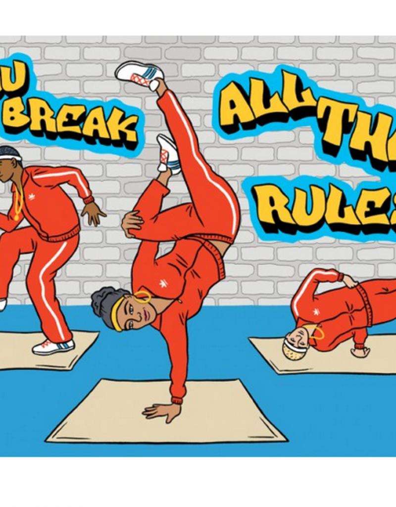 The Found Break Dancing Birthday Greeting Card