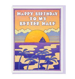 Lucky Horse Press Happy Birthday To My Better Half Greeting Card
