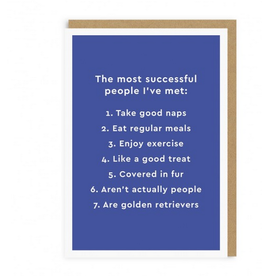 Ohh Deer The Most Successful People are Golden Retrievers Greeting Card