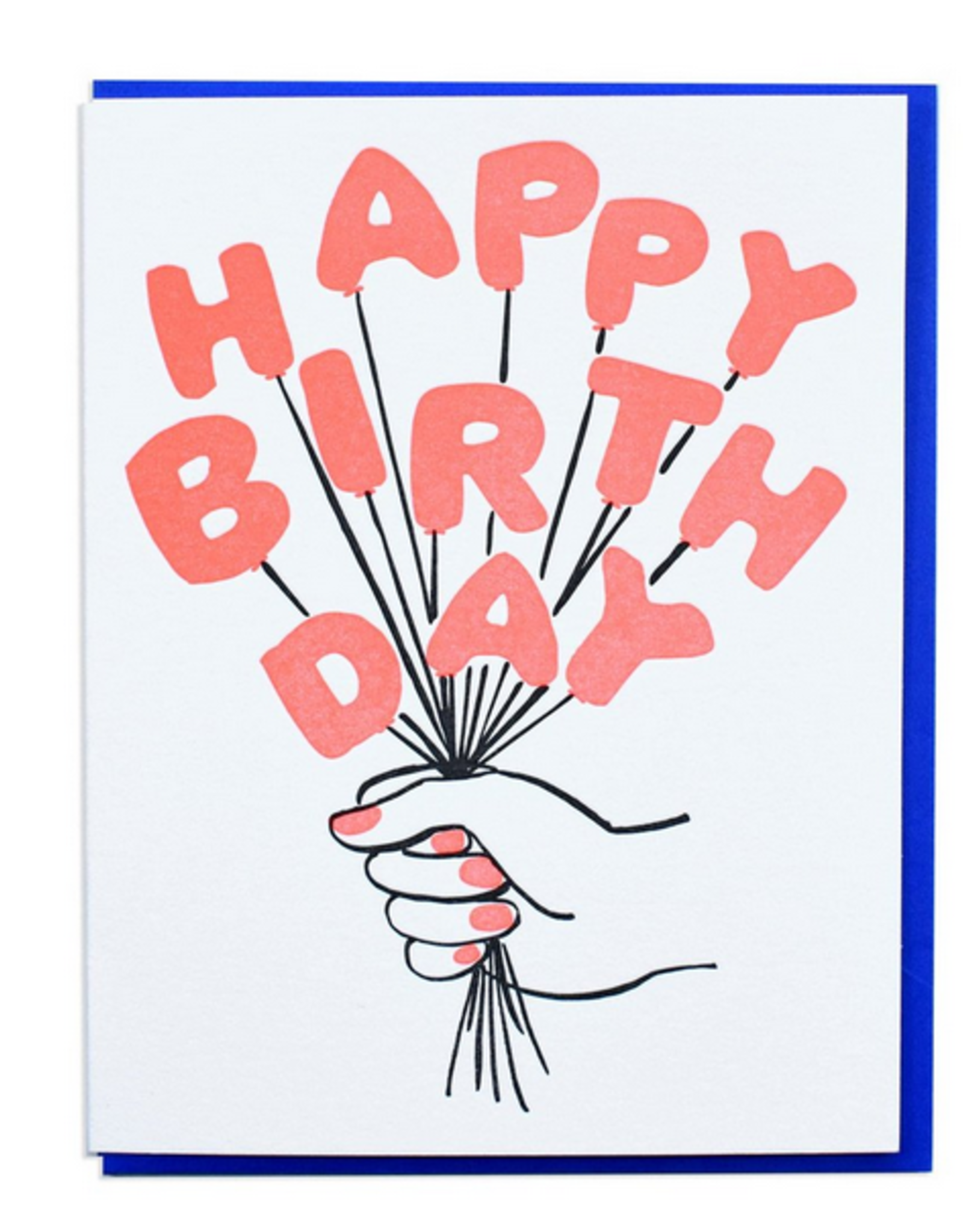 Happy Birthday Balloon Bouquet Greeting Card