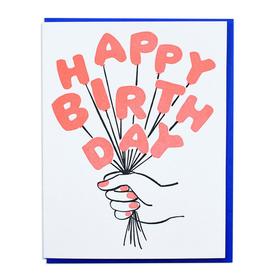 Happy Birthday Balloon Bouquet Greeting Card