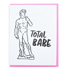 Total Babe David Sculpture Greeting Card
