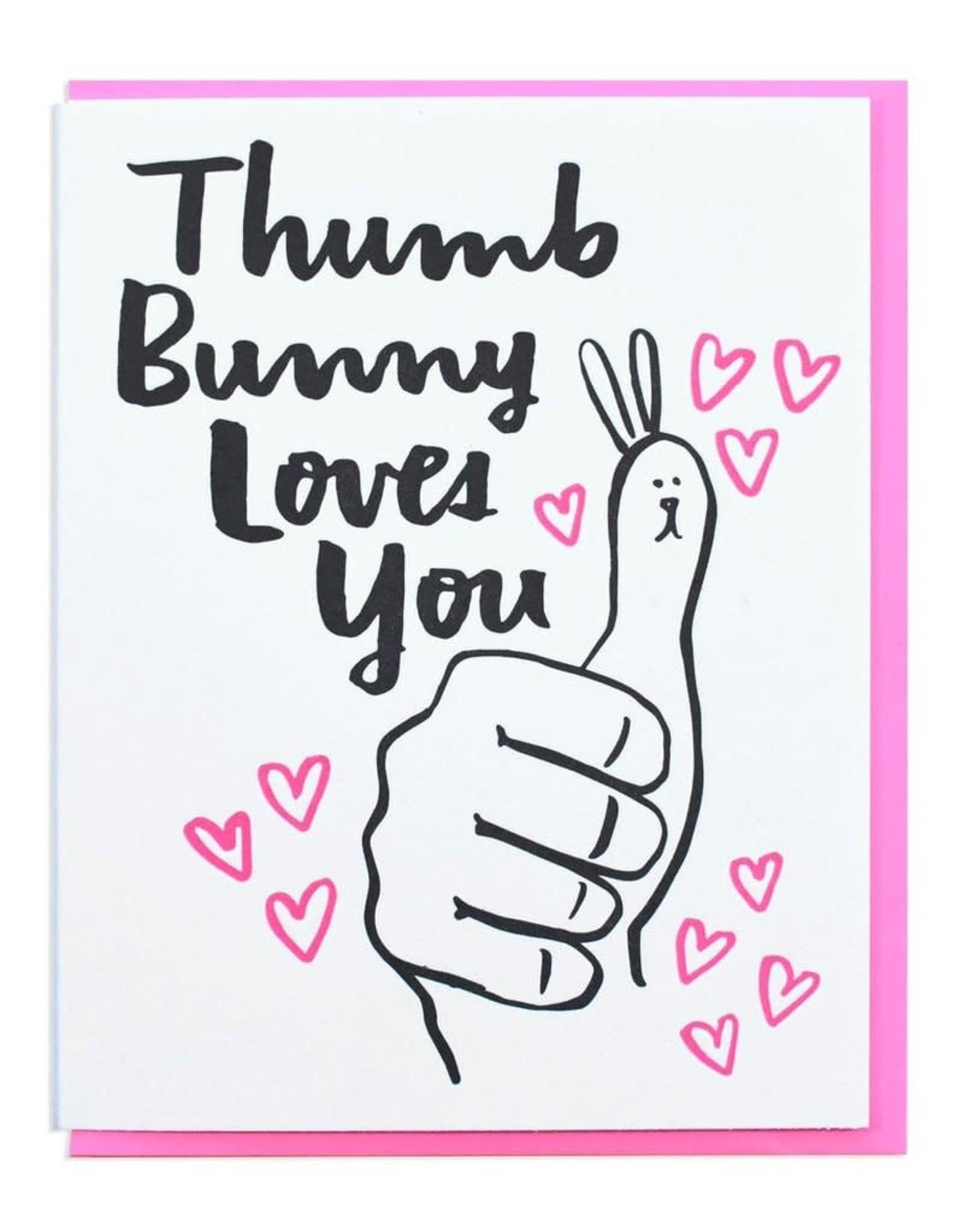 Thumb Bunny Loves You Greeting Card