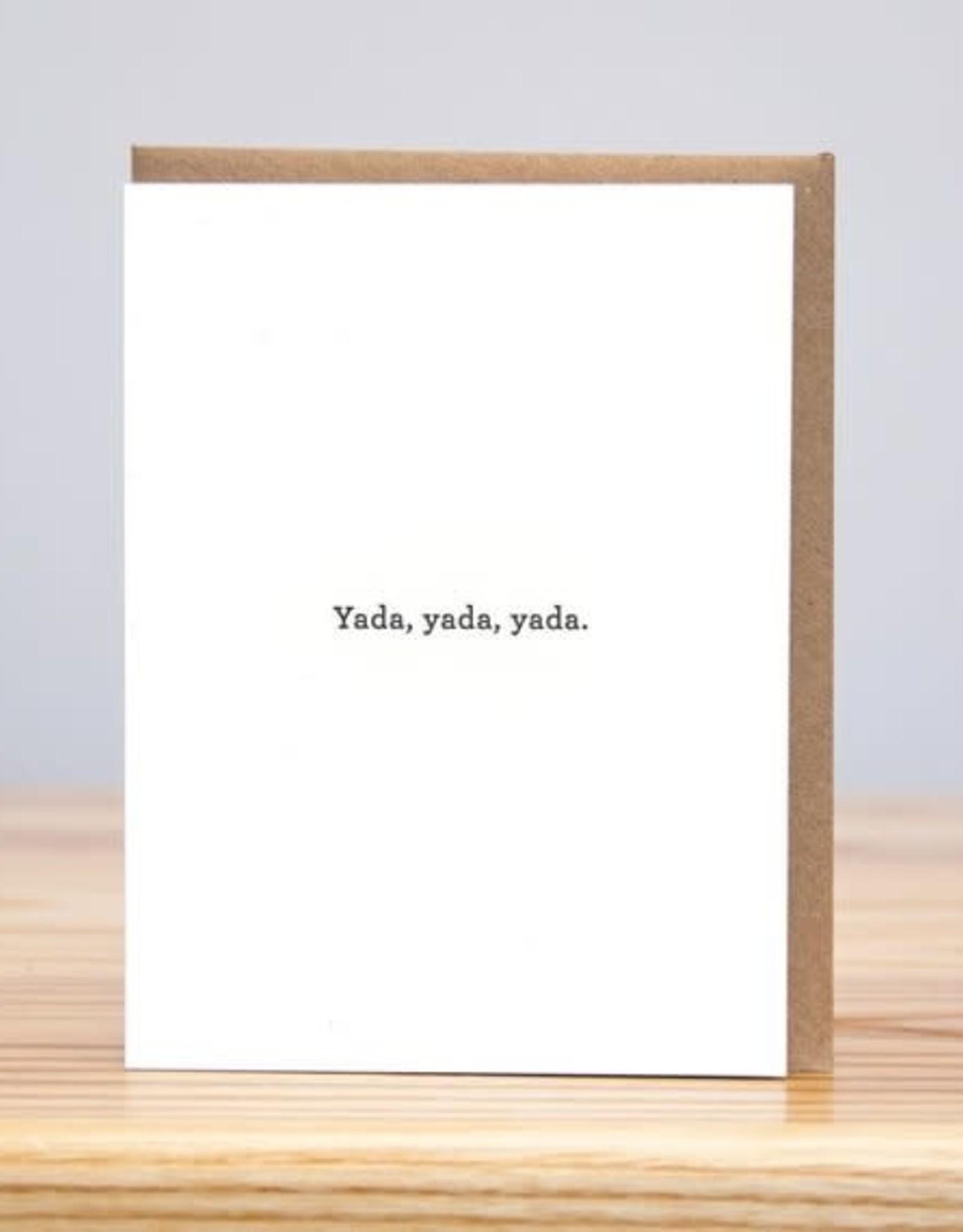 Yada Yada Greeting Card