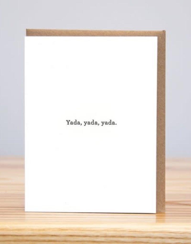 Huckleberry Letterpress Yada Yada Greeting Card