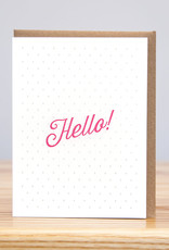 Huckleberry Letterpress Hello Dots Greeting Card