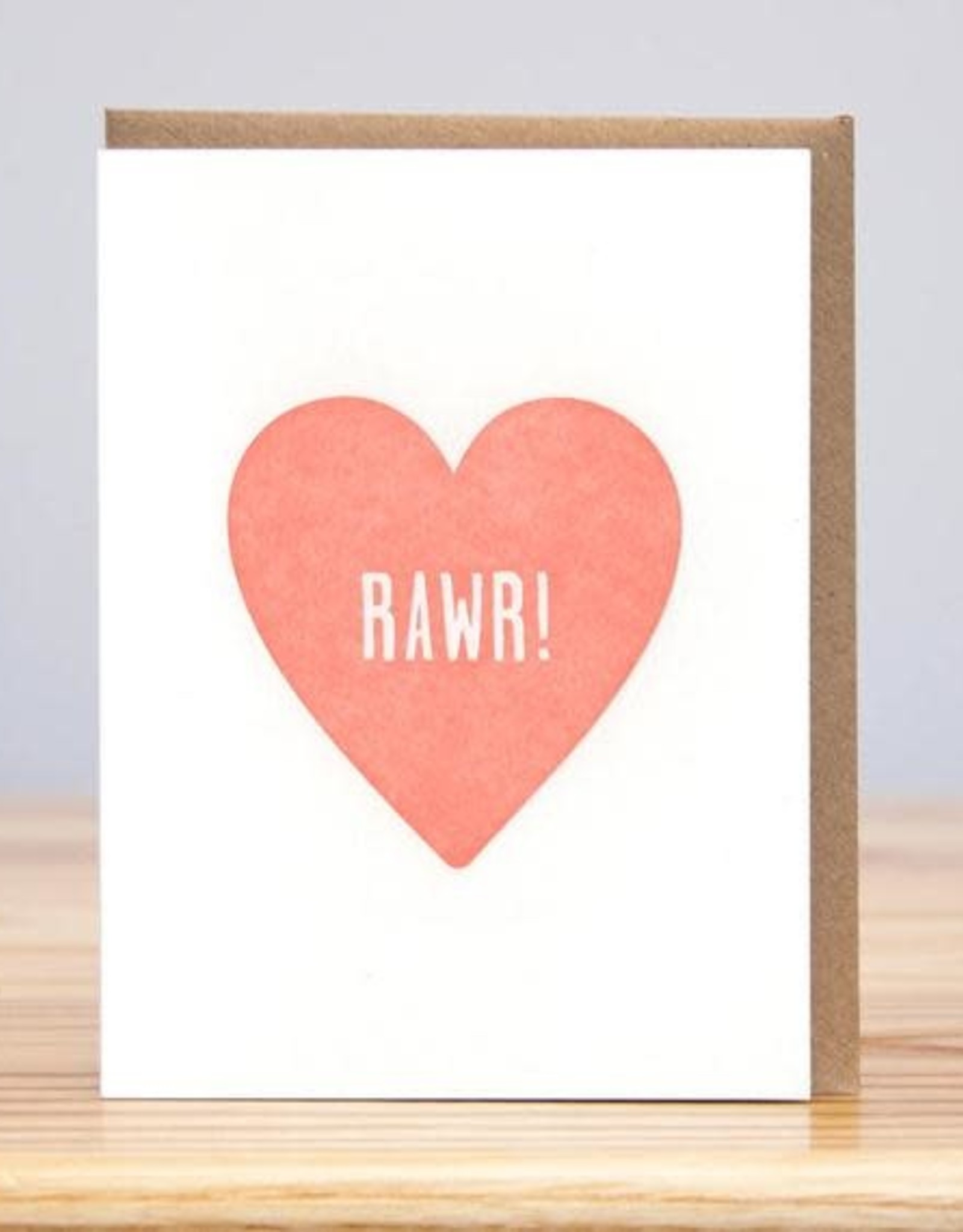 Rawr Heart Greeting Card