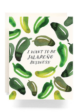 Antiquaria Jalapeno Business Greeting Card