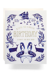 Antiquaria Mermaid Birthday Greeting Card