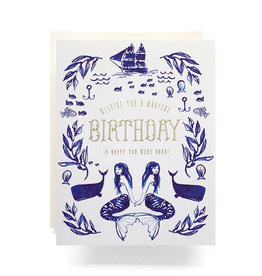 Antiquaria Mermaid Birthday Greeting Card
