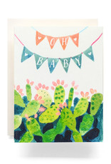 Antiquaria Oh Baby Bunting Greeting Card