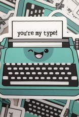 Andreakdoodles You're My Type Typewriter Vinyl Sticker