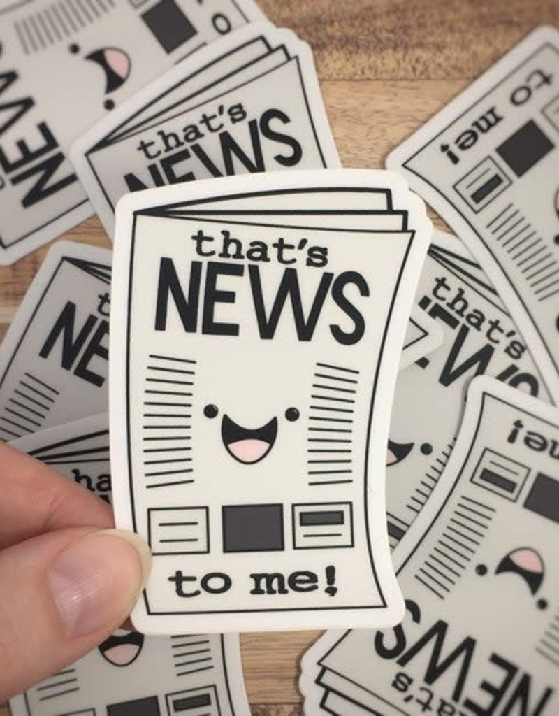 Andreakdoodles That's News To Me Newspaper Vinyl Sticker
