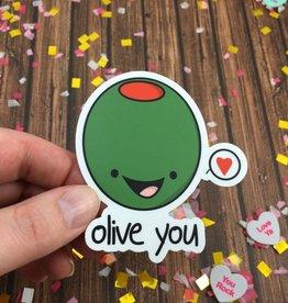 Andreakdoodles Olive You Vinyl Sticker
