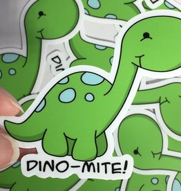 Andreakdoodles Dino-Mite Vinyl Sticker