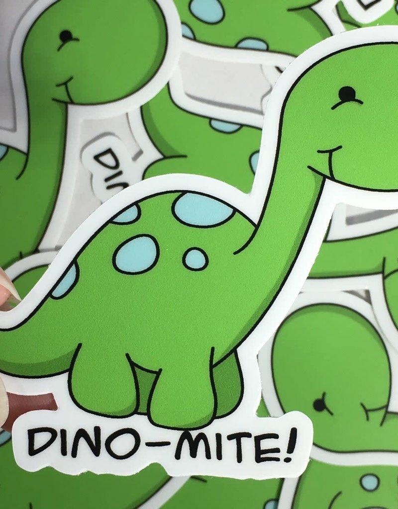 Andreakdoodles Dino-Mite Vinyl Sticker