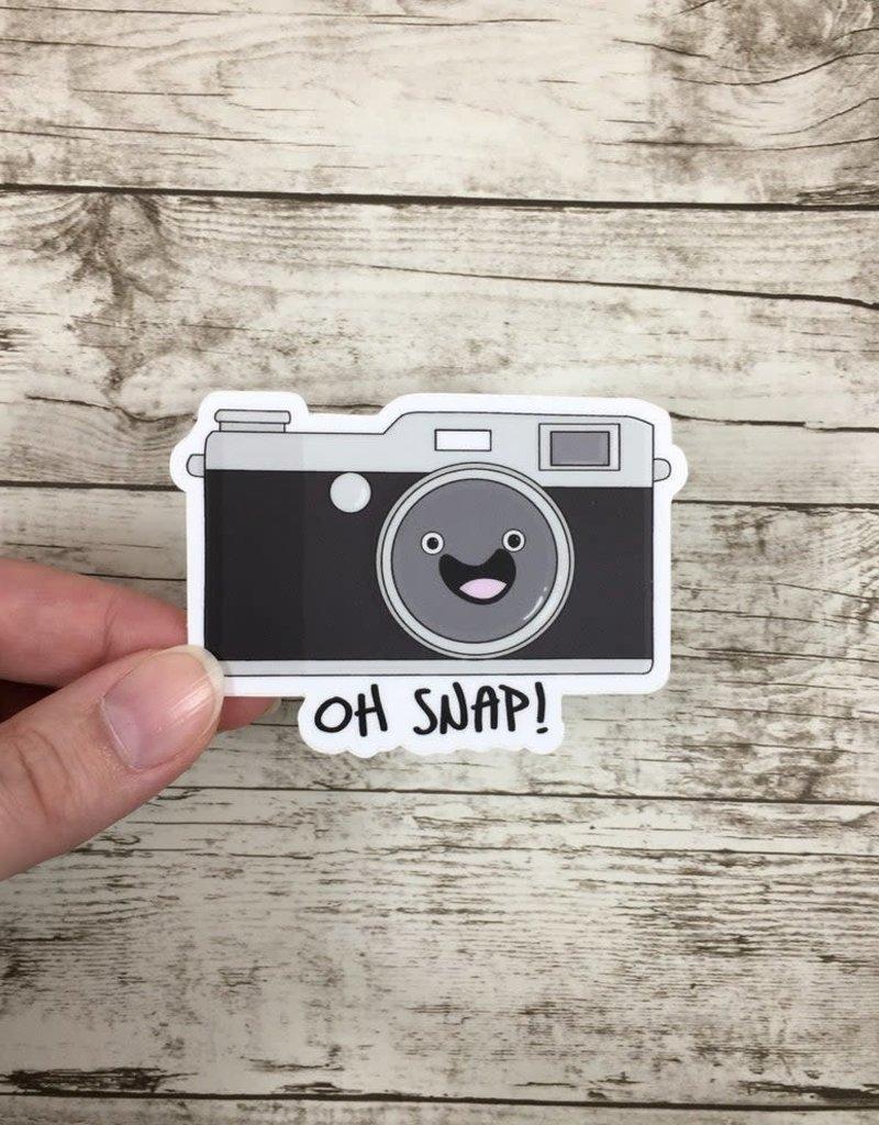 Andreakdoodles Oh Snap Camera Vinyl Sticker