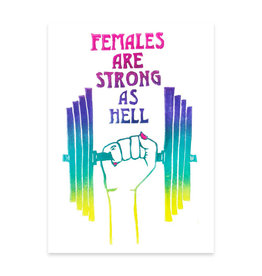 Foreignspell Females are Strong as Hell Greeting Card