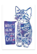 Foreignspell What's New Pussy Cat Greeting Card