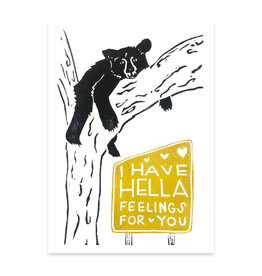 Foreignspell Hella Feelings Bear Greeting Card
