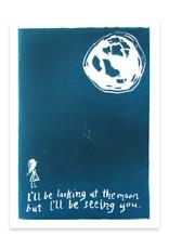 Looking at the Moon Greeting Card