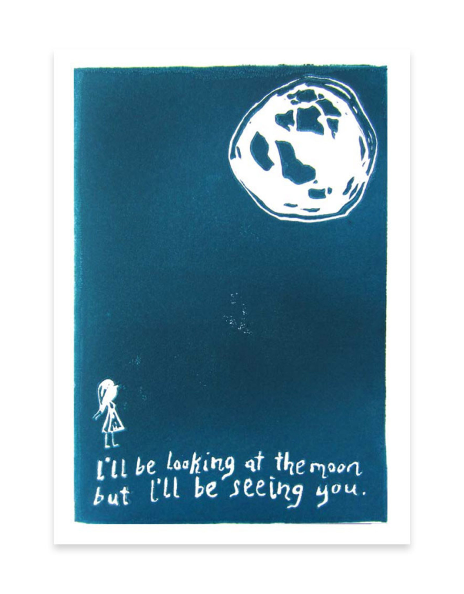 Looking at the Moon Greeting Card